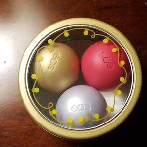 3pk EOS lip balm in tin